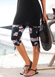 11a07660471 Black Floral Print Capri Leggings by LASCANA