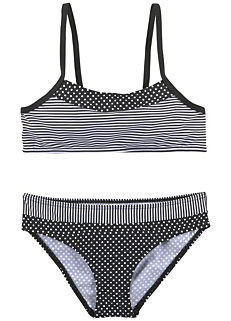 b23a2c85ec Oliver Brown Print Girl's Triangle Bikini. From £18.00. Black Kids Print  Bustier Bikini Set by s.Oliver