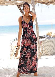 f858c93f1b Black Print Maxi Dress by LASCANA