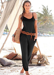5979ada416 Black Sleeveless Jumpsuit by LASCANA