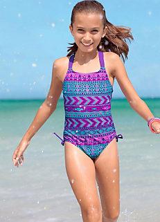 f4583386f190b Girls Purple 'Navaja' Print Swimsuit by bpc bonprix collection