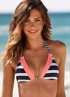 4bc670e38c Navy Stripe  Anita  Triangle Bikini Top by Kangaroos