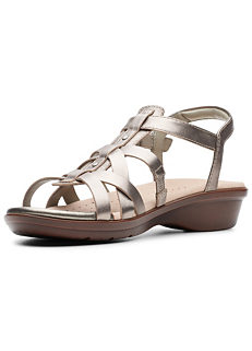 8f32d5726bf9 Pewter  Met Loomis Katey  Multi Strap Sandals by Clarks