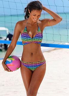 5660dd285d6 Printed Wrap Design Triangle Bikini by Bench