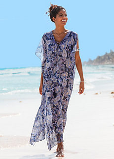 60fc679bcd Purple Print Sheer Beach Maxi Dress by bpc selection