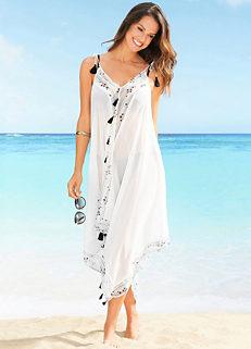 d3619336e5 White Chiffon Beach Dress by bpc selection