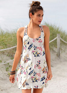 13ce137c5076 White Print Beach Dress by s.Oliver RED LABEL
