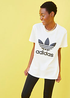 new styles f880c 5f9cc White T-Shirt by adidas Originals