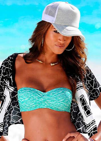mint white bandeau bikini top by venice beach swimwear365. Black Bedroom Furniture Sets. Home Design Ideas