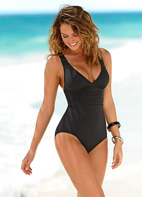 Black Shaping Swimsuit by LASCANA