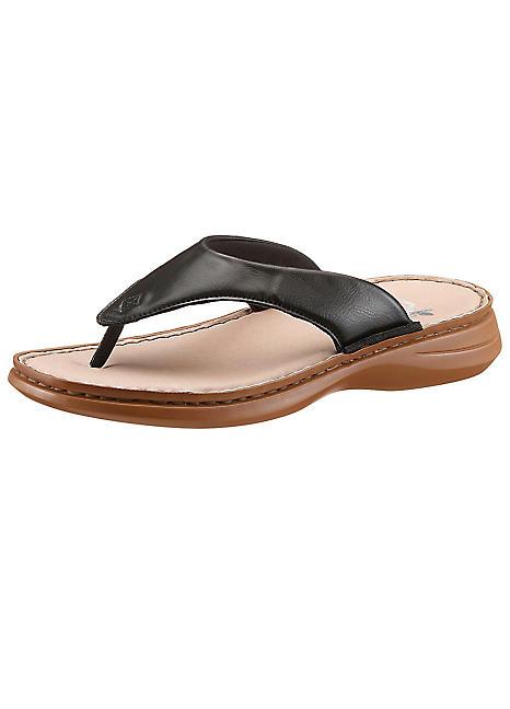 buy online f3b9a a1194 Black Toe-Post Sandals by Rieker