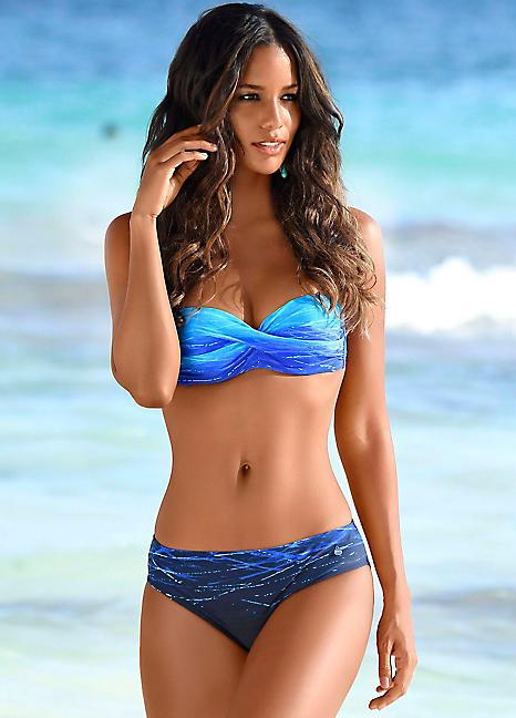 sold worldwide pretty cheap cheap Blue Print Bandeau Bikini by LASCANA