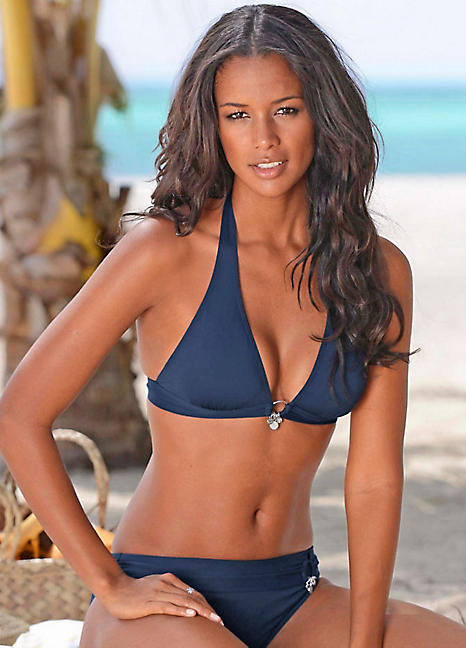 b2b7f6fbd7 Dark Blue Triangle Bikini by s.Oliver | Swimwear365