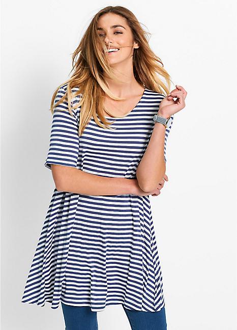 dddea6a2c36 Indigo Stripe Tunic by bpc bonprix collection | Swimwear365