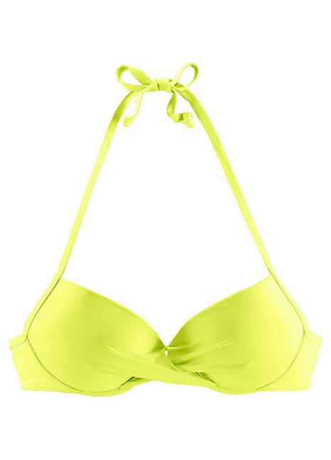 c1a33b84e2 Lime 'Spain' Wrap Push Up Bikini Top by s.Oliver   Swimwear365