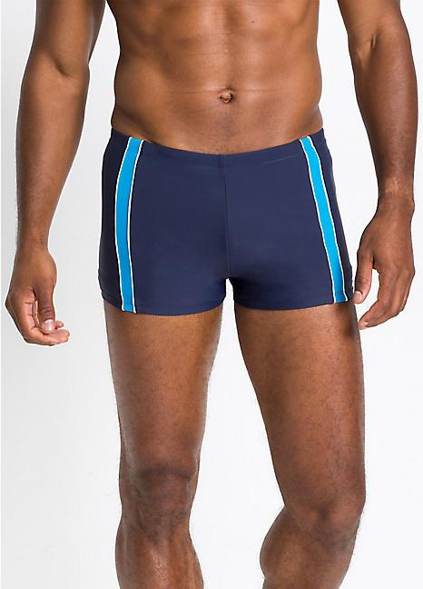 b9120df3c25f23 Mens Navy Fitted Swim Trunks by Bonprix | Swimwear365