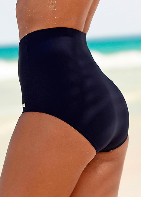 fcd5c1ce09f9a Navy High Waisted Control Bikini Briefs by LASCANA