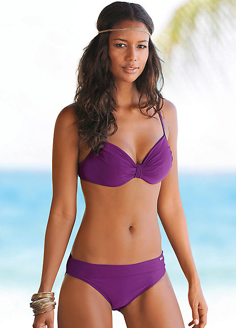 b3167ef85ac12 Purple Underwired Pleated Bikini by LASCANA