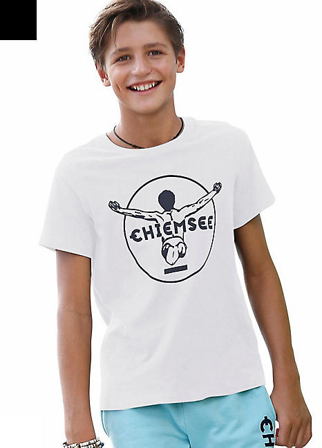 9d720f60aac13b White Boys Branded T-Shirt by Chiemsee   Swimwear365