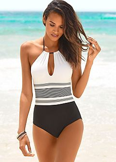 4b3405e34 Black   White Swimsuit by Jette